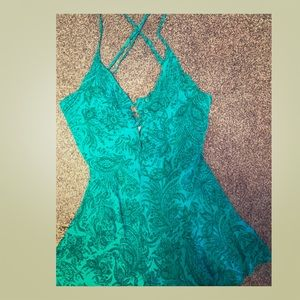 Paisley teal romper by O'Neill size medium